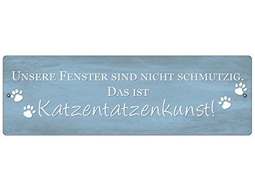 Interluxe KUNSTSTOFFSCHILD mit Saugnapf Autoschild Katzen [ *TATZEN* ] Kunst Tier Katze Fenster