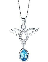 LOCHING Hollowed Angel's Wings Inlaid Zircon Elegant 925 Sterling Silver Earrings lWokGaM