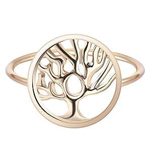 Fengteng Damenring Lebensbaum Ring Baum des Lebens Fingerring Als Geschenk und Schmuck