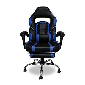 419z2lqMPQL. SS300  - HG-Office-Silla-giratoria-Silla-para-juegos-Premium-Comfort-Apoyabrazos-acolchados-Silla-de-carreras-Capacidad-de-carga-200-kg-Altura-ajustable-negro-azul
