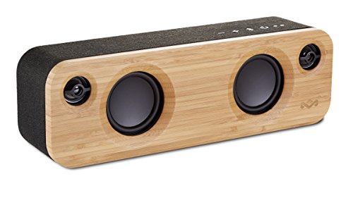 House of Marley Get Together Mini tragbare Bluetooth Box (2.5 Zoll Subwoofer & 1' Hochtöner, 10 Std. Akkulaufzeit, Aux-In, Laden per USB, Lautsprecher Telefonie für iPhone, iPad, Samsung etc) black Black-box-samsung