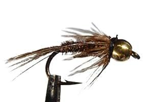 1 x Mouche Nymphe FAISAN bille LAITON DOREE pour pêche à la truite H10