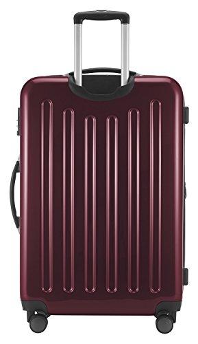 HAUPTSTADTKOFFER - Alex - NEU 4 Doppel-Rollen Großer Hartschalen-Koffer Koffer Trolley Rollkoffer Reisekoffer, TSA, 75 cm, 119 Liter, Burgund - 4