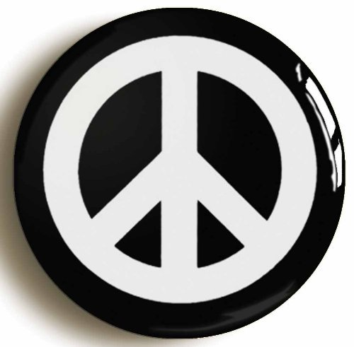 CND CAMPAIGN FOR NUCLEAR DISARMAMENT PEACE BADGE BUTTON PIN (1inch/25mm diameter) by Pin It On