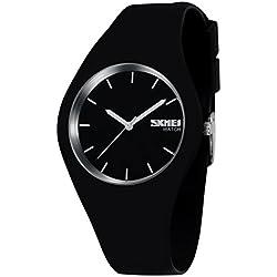 Sport Quarzuhr Mehrfarbige Silikon Uhrenarmbänder Armbanduhren für Damen Armbanduhren für Herren Armbanduhren für Jungen, Unisex