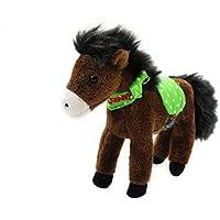 Kleines Plüsch Pferd mit Soundmodul dunkelbraun Johnny von Spiegelburg