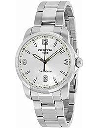 Certina C001.410.11.037.00 - Reloj de cuarzo para hombre, con correa de acero inoxidable, color plateado