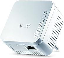 Devolo dLAN 550 WiFi Powerlan Adapter (500 Mbit/s, Ergänzung, 1x LAN Port, Powerline WLAN, Internet aus der Steckdose, WLAN Repeater, Verstärker, range+, WiFi Move, Kompaktgehäuse) weiß