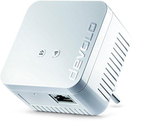 devolo 9622 dLAN 550 WiFi Powerline (500 Mbit/s Internet über die Steckdose, 300 Mbit/s über WLAN, 1x LAN Port, 1x Powerlan Adapter, PLC Netzwerkadapter, WLAN verbessern, WiFi Booster, WiFi Move) weiß
