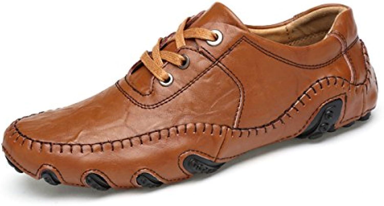 Herren Jobs Derby Schuhe Herbst Winter Leder Langlebig weissh Schuhe Handmade Bootsschuhe