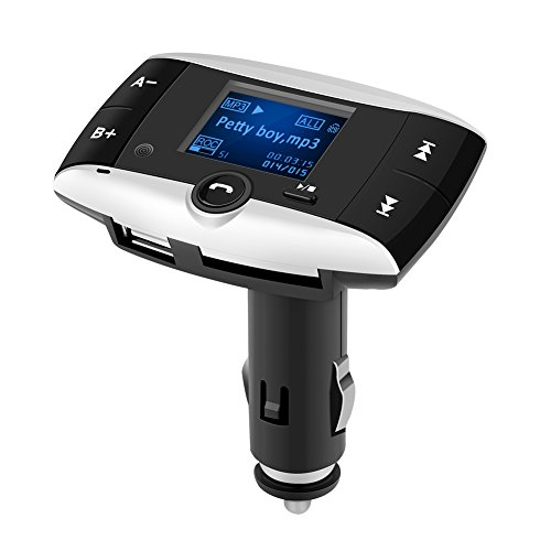 Qiilu Wireless Bluetooth Car Kit MP3 FM Transmitter Radio Adapter SD LCD USB Ladegerät für Handys