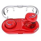 Womdee Drahtlose Ohrhörer, V4.2 Bluetooth-Ohrhörer, 6-Stunden Sprechzeit, Multipoint-Pairing, Stereo-Mikrofon, mit Ladekoffer, für iPhone/Andriod / Pad