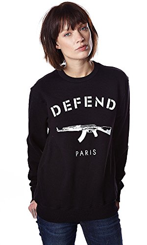 Sweater Paris Crew Black Defend XL Damen