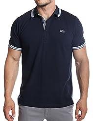 Hugo Boss - Polo manches courtes bleu marine en coton piqué