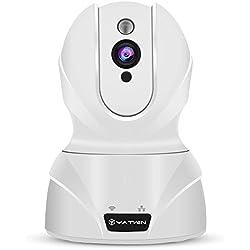 Caméra IP sans Fil 720p YATWIN, Caméra Surveillance WiFi Caméra de Securité Babyphone sans Fil WiFi 2,4GHZ