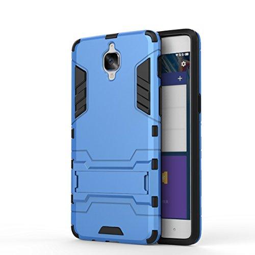 YHUISEN Tough-Art Hybrid Dual Layer Rüstung Defender PC Hard Cases Neue 2 in 1 Eisen-Rüstung mit Ständer Stoß- Fall für Huawei Honor 8 OnePlus 3 LG X Power ( Color : Gold , Size : Huawei Honor 8 ) Blue