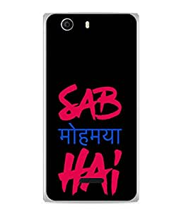 Fuson Designer Back Case Cover for Micromax Canvas Nitro 2 E311 (Black Typography Text Youth College Boy Girl)