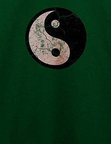Yin Yang Vintage T-Shirt Dunkel Grün