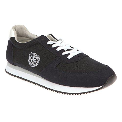 U.S. POLO Chaussures de course homme, fermeture à lacets - mod. NOBIL4192S7-CH1 bleu foncé