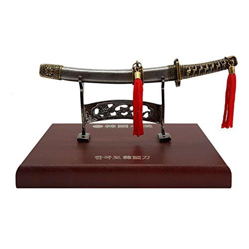 KS Craft Hangukdo espada Coreana tipo Horizontal Corea Estatua decorat