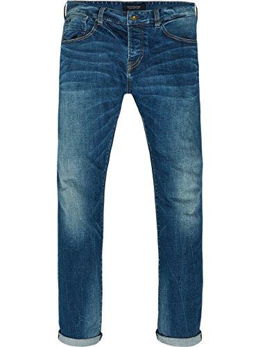 Scotch & Soda Herren Straight Jeans Vernon-Kimono Yes, Blau (Kimono Yes 1845), W33/L32 - Denim-kimono