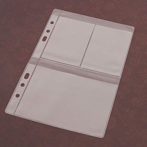 ECMQS 5 Blatt 3 Arten Scrapbooking Aufbewahrung Stanzen, Transparent Weiß,14cmx19.5cm/5.51inx7.68in (3 Gitter)
