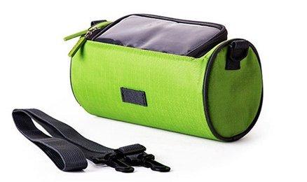 Der&Dies wasserdichte Fahrradtasche mit transparente Fenster für Handy,Fahrradtasche für zur alltäglichen Aufbewahrung.(Grün)