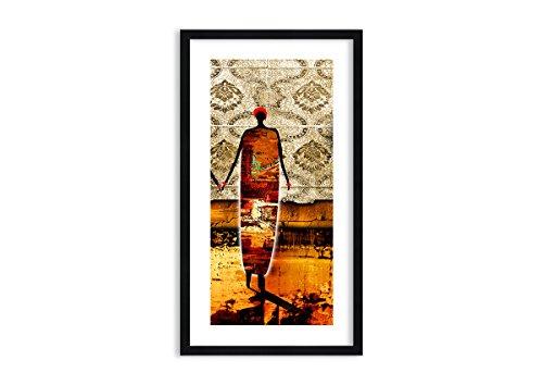 Bild im schwarzen Holzrahmen - Bild im Rahmen - Bild auf Leinwand - Leinwandbilder - Breite: 45cm, Höhe: 80cm - Bildnummer 0659 - zum Aufhängen bereit - Bilder - Kunstdruck ()