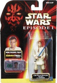 Star Wars Episode 1 - Action Figur 84073 - Obi-Wan Kenobi (Jedi Duel) mit Lichtschwert (inkl. CommTech Chip)