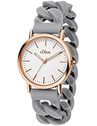 s.Oliver Damen-Armbanduhr Analog Quarz Silikon SO-3257-PQ