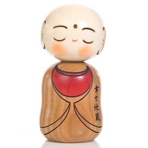 Buda Feliz De Japón De Madera Muñeca Kokeshi