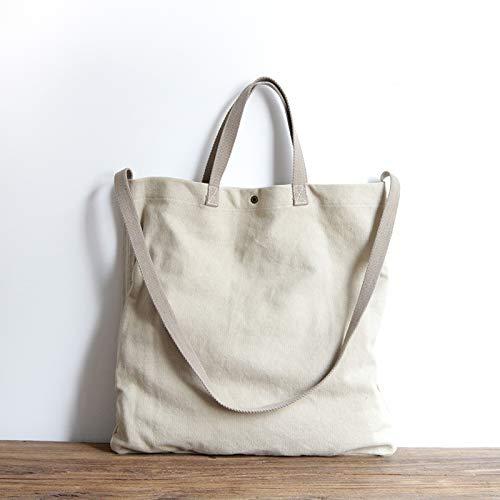 Hanf Messenger Tasche (ZSBBshop Taschen Baumwollbeutel, Baumwolle und Flachs, einfach, schräg, lässig, klein, erfrischend, Koreanisch, Tragbare Kunst- und Kunsthandwerkstaschen, Leinentaschen, Weißer Hanf)