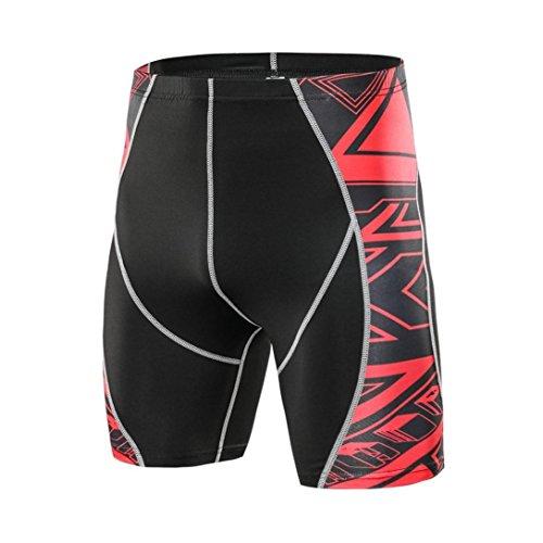 LMMVP Homme Pantalon (͡° ͜ʖ Court Sport Compression Élastique Leggings Short Slim Collant Cyclisme Fitness Séchage Rapide