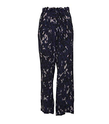 GWYNEDDS -  Pantaloni  - Donna blue white 51 (Seta Straight Leg Pants)