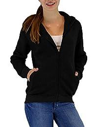 Damen Uni Sweatjacke mit Kapuze in 3 Farben