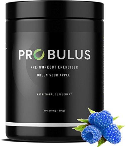PRE-WORKOUT di Probulus Lampone blu: potenziamento prima dell'allenamento. Riduce la fatica, migliora le performance, fonte di ENERGIA, supporta la CONCENTRAZIONE, RECUPERO veloce post workout. Prodotto 100% NATURALE. (lampone)
