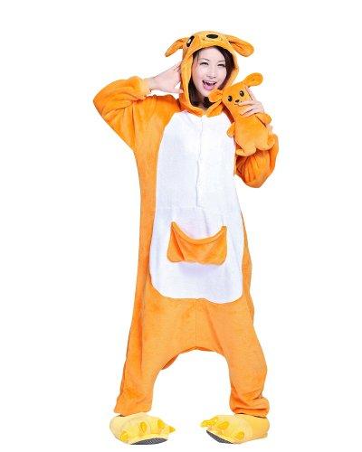 Win8fong new kigurumi pajamas animal anime cosplay-costume di halloween per adulti, unisex, caldo pigiama/tuta per feste, colore: blu canguro  x-large