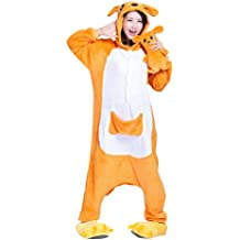 Keral Kigurumi Pijamas Adulto Anime Cosplay de Halloween Traje Outfit Canguro Asia-Medium