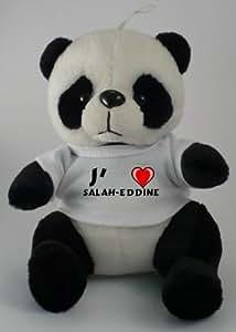Peluche panda avec J'aime Salah-Eddine
