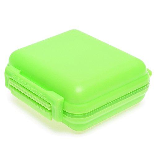 Pocket Schmuck-organizer (MAXGOODS Portable 8 Zellen Pocket Pill Medizin Box Aufbewahrungskoffer Organizer Schmuck Box Pille Container( Grün))