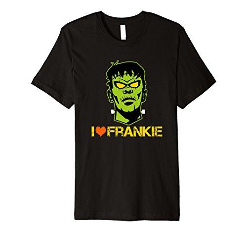 (Funny Halloween I LOVE Frankie Frankenstein Hals Bolt Shirt)