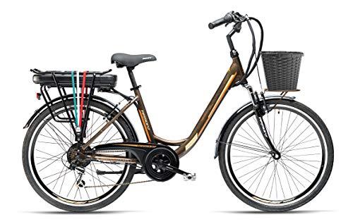 """Armony Firenze ADV, Bicicletta Elettrica Unisex Adulto, Marrone Titanio, 26\"""""""