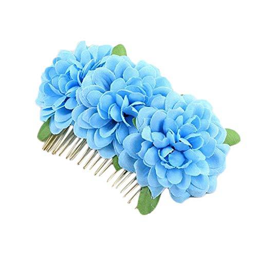 aut Kopfschmuck Haarnadel Kamm Rot Doppel Flanell Curling Reine Farbe Blume Haarkamm Haarschmuck Zubehör Kopfschmuck Haarspange Frauen Haarschmuck - Multicolor ()