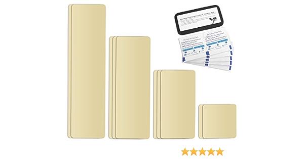 Selbstklebende Planenreparatur Tapes 10 Teilig Easy Patch Comfort 100mm Für Zelte Planen Uvm Elfenbein Ral 1014 Auto