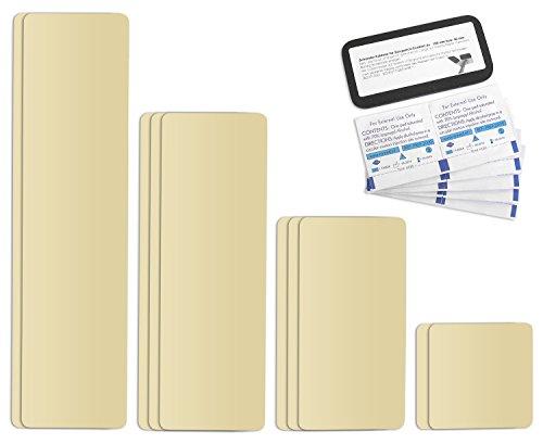 Selbstklebende Planenreparatur Tapes   10 teilig   Easy Patch Comfort 100mm   Für Zelte, Planen uvm.   Elfenbein RAL 1014