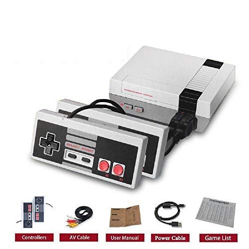 Sistema di intrattenimento per videogiochi AV-OUT Classica console di gioco per mini TV con 500 giochi incorporati, controller da 2 pezzi