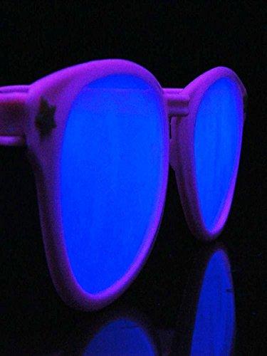 XXL Schwarzlicht Brille Oval Neon Pink