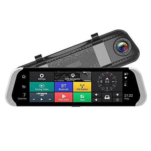 SODIAL 10 Zoll 4G Auto Rück Spiegel Dvr Kamera Doppel Objektiv Android 5.1 Dash Cam App Adas Warnung Bluetooth Doppel Objektiv G-Sensor Dvr