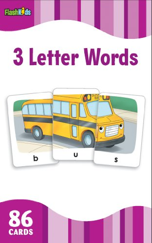3 Letter Words (Flash Kids Flash Cards) por Flash Kids Editors