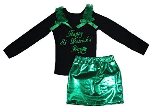Petitebelle Glücklicher St Patrick Tag Schwarz L/s Shirt -